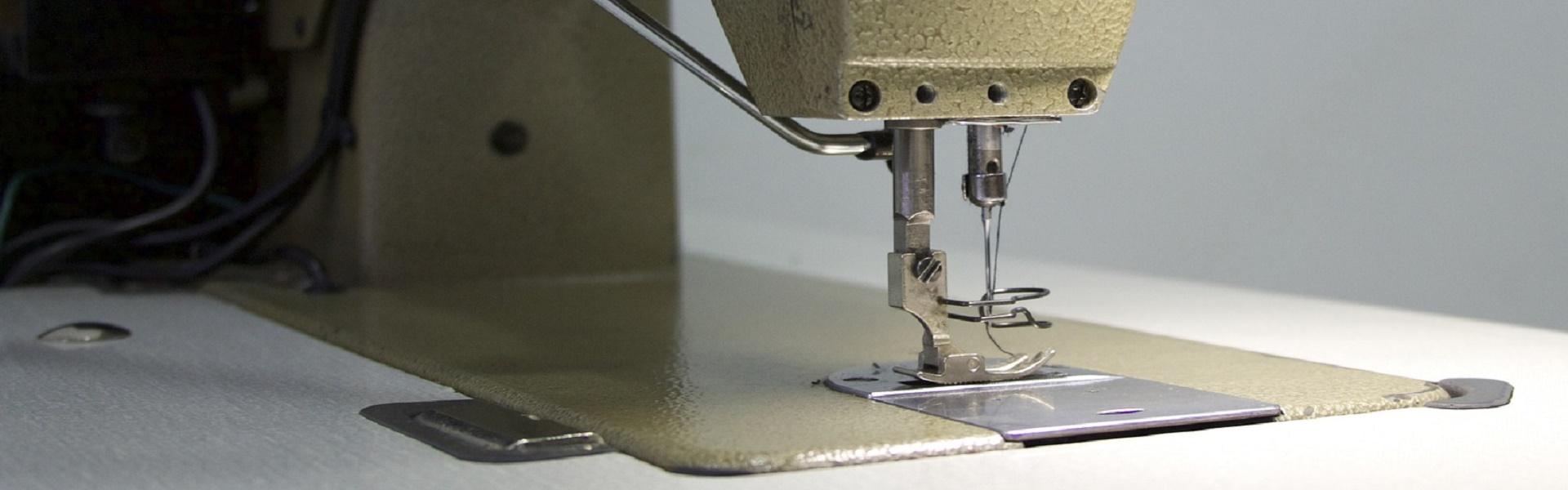 Detail der Nähmaschine