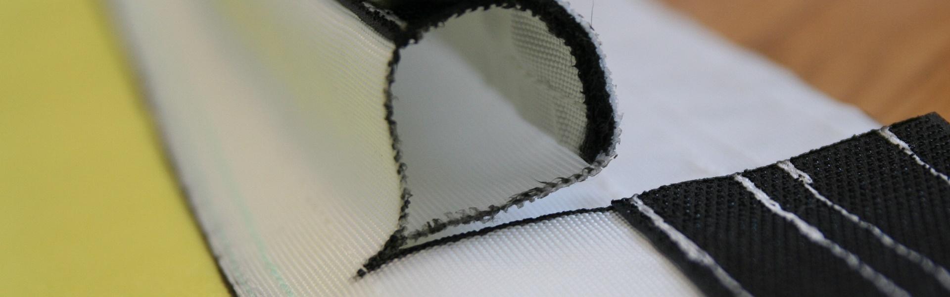Detail des Klettverschlusses